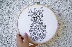 Pineapple Embroidery                                                                                                                                                                                 More