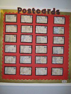 World War Two Postcards (Year 4) classroom display photo
