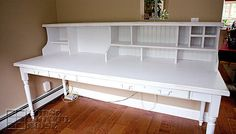 I need to build something for the top of my farm table / desk similar to this hutch / cubby organizer.