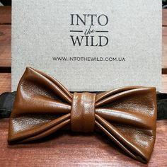 This unique bow tie for men is handcrafted in Ukraine with high-quality genuine leather. It is perfect for formal occasions or to wear with casual clothes. You will look st...