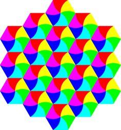 Swirly Hexagon Tessellation Clip Art