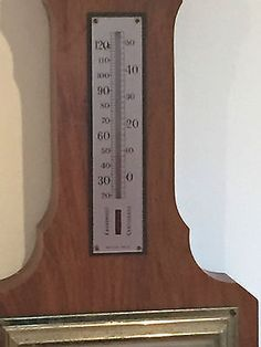 Vintage Art Deco OC & Anchor Wall Barometer & Thermometer  O. Comitti & Sons