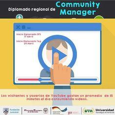 Recuerda hoy inicia el #Diplomado Regional de #CommunityManager. ¡Aún estás a tiempo de inscribirte! #UTH #Honduras