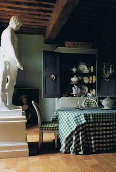 rld of Interiors June 2005 - 18th century Burgundy home of Barbara and René Stoeltie. Photography René Stoeltie