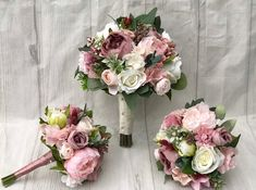 Numerous brides may understand the wedding flower they desire in their own bouquet, however are a little mystified about the remainder of the wedding event flowers required to complete the ceremony and reception. Dusty Rose Wedding, Fall Wedding Flowers, Flower Bouquet Wedding, Floral Wedding, Fall Flowers, Fresh Flowers, Flowers Uk, Autumn Wedding, Silk Bridal Bouquet