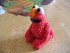 Elmo, I made him from homemade fondant. :)