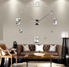 Nastenne nalepovacie hodiny na stenu ako dekoracia desing | 3D hodiny