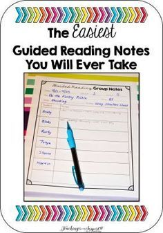 Reading Notes I made a new Guided Reading handout for my Guided Reading binder to keep track of my Guided Reading Notes.I made a new Guided Reading handout for my Guided Reading binder to keep track of my Guided Reading Notes. Guided Reading Binder, Reading Notes, Reading Centers, Reading Workshop, Reading Skills, Reading Strategies, Guided Reading Organization, Literacy Centers, Reading Homework