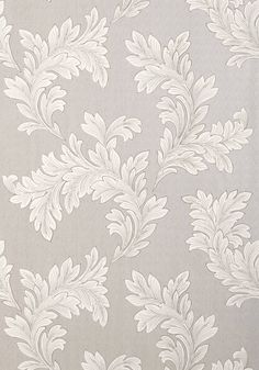 ELAND ACANTHUS, Grey on Metallic Silver, T1057, Collection Menswear Resource from Thibaut