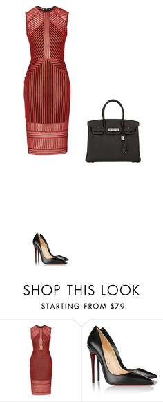 """Untitled #1173"" by deja5sos ❤ liked on Polyvore featuring Topshop, Christian Louboutin and Hermès"