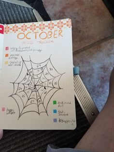 22 Spinetingling October Bullet Journal Ideas – 22 ideas for the October Bullet Journal Bullet Journal Mood Tracker, Bullet Journal Flip Through, Bullet Journal Headers, Bullet Journal 2019, Bullet Journal Notebook, Bullet Journal Aesthetic, Bullet Journals, Journal Layout, Journal Pages