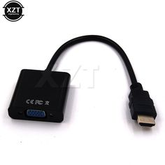 Kebidu Hdmi To Vga Converter Connector Adapter Cable Audio Vedio Male To Female For Xbox 360 For Ps3 Laptop Hdtv Display Reputation First Back To Search Resultshome