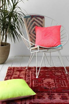 Plum & Bow Neon Crochet Pillow #urbanoutfitters
