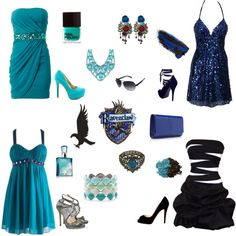 Night on the Town - Ravenclaw, created by imnotpaulavery on Polyvore