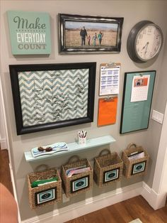 Get your family organized with a DIY command center! All you need is some wood and a small space on the kitchen wall to get things in order! GET YOUR FAMILY ORGANIZED WITH A DIY COMMAND CENTER