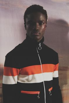 Fallou Gueye backstage at Grace Wales Bonner (Fashion East) AW15 #LCM #AW15 #FashionEast #behindthescenes #menswear #nevsmen #nevsshows #backstage