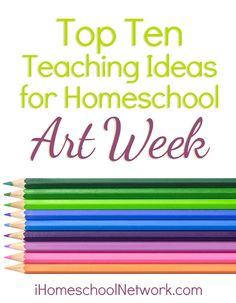 Top Ten Teaching Ideas for Celebrating Art Show Week