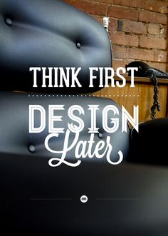 """Designtank is my place to post cool things that inspire creativity, envy, or just simple laughter. The name is a mash-up of """"think tank""""; and """"think design. Typography Tumblr, Graphic Design Typography, Lettering, Typography Letters, Quote Typography, Typography Inspiration, Graphic Design Inspiration, Creative Inspiration, Design Ideas"""