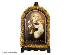 Holy art catholic art religious gift Baltic amber pictures holy icon prints on wood decorated with Baltic amber by PreciousAmber on Etsy
