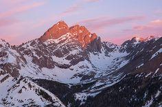 Colorado 14ers Crestone Needle and Crestone Peak at sunrise.  aaronspong.com