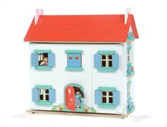 The Strawberry Villa Dolls House from Le Toy Van is a new release this year designed to add colour and play value to this great hobby.    This doll house comes fully painted and decorated and includes three floors with a staircase. It also has opening shutters and windows.    It comes flat packed and requires minimal assembly.