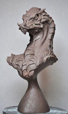 Northern King Dragon bust 5 Monter Clay by AntWatkins on deviantART