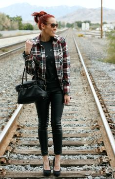 Flannel, Leather and a Polka Dot Sweater.