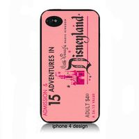 Vintage Disney ticket- pink- Iphone 4 cell phone accessory case, Iphone cover  @Angela Petrunick
