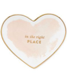 Is your heart in the right place? It is now with this eye-catching blush heart dish from kate spade new york's Posy Court collection -- how cute of a place to stash your Just Kissed?