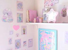 kawaii floating pastel nightstand frame homes