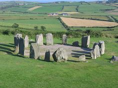Drombeg Stone Circle (also called The Druid's Altar), is located east of Glandore, County Cork, Ireland