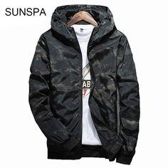 be8abf2c7754 SUNSPA 2017 Spring Autumn Mens Casual Camouflage Hoodie Jacket Men  Waterproof Clothes Men s Windbreaker Coat Male