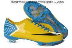 Nike Mercurial Vapor X FG Jaune Noir Bleu