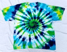 Blue Green And Yellow Tie Dye Shirts Photos