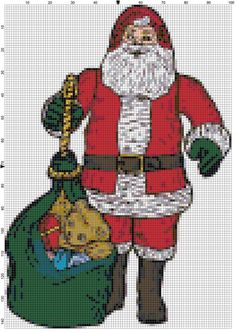 Make a 10-inch Santa Claus Needlepoint Stand-up Figure with this free chart and basic needlepoint stitches. Download now to stitch for Christmas.