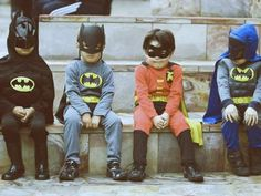 so many batman's and only one robin