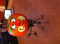 Painting pumpkin faces