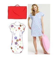 K3552, Sleep Shirt and Pillowcase
