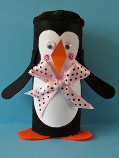 Winter Penguin Toilet Paper Roll Craft   FaveCrafts.com