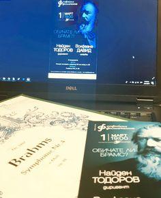 На 22. Февруари Иван Кожухаров с помощта на Виктория Василенко, Александър Сомов и разбира се Софийската филхармония ще зарадва публиката с красива и пълна с емоции музика. А на 1. Март ще бъде мой ред да се радвам - с музиката на Брух и Брамс!