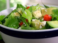 Jamie Deen's Chopped Crunch Salad...green beans, avocado, romaine, celery, cucumber, carrots, feta or bleu..