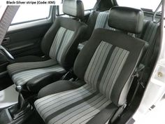 "MK1 Golf GTI ""Campaign"" edition Black silver stripe interior"