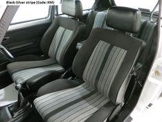 """MK1 Golf GTI """"Campaign"""" edition Black silver stripe interior"""