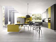 Fitted kitchen with island KALEA - COMPOSITION 6 by Cesar Arredamenti design Gian Vittorio Plazzogna