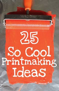 Lots of really cool printmaking ideas #corwindesign #printing #design More
