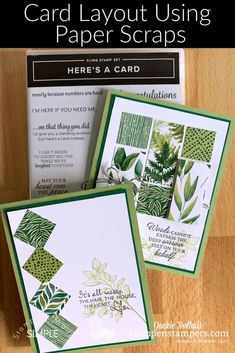 Looking for card layouts using paper scraps? I've got 2 winning card ideas that are simple to make and look great! Join the fun at www.klompenstampers.com #cardlayout #cardsketches #cardsketchwithmeasurements #cardmaking #greetingcards #handmadecards #diycards #jackiebolhuis #klompenstampers #stampinupcards