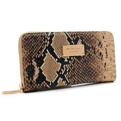 Michael Kors Python Continental Large Beige Wallets