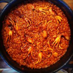 ARROZ DE PULPITOS (CON SALMORRETA) | El Cocinero Fiel Risotto, Tapas, Chili, Soup, Cabin, Cooking, Recipes, Recipes With Rice, Noodle