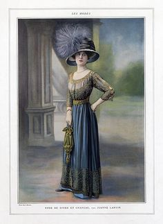 Jeanne Lanvin 1909 Hat and Dress