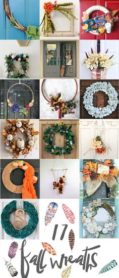 DIY Eclectic Fall Wreaths   Up to Date Interiors
